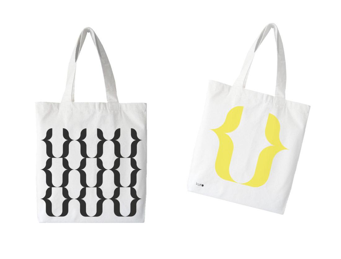 tote bags, kuro art space, branding